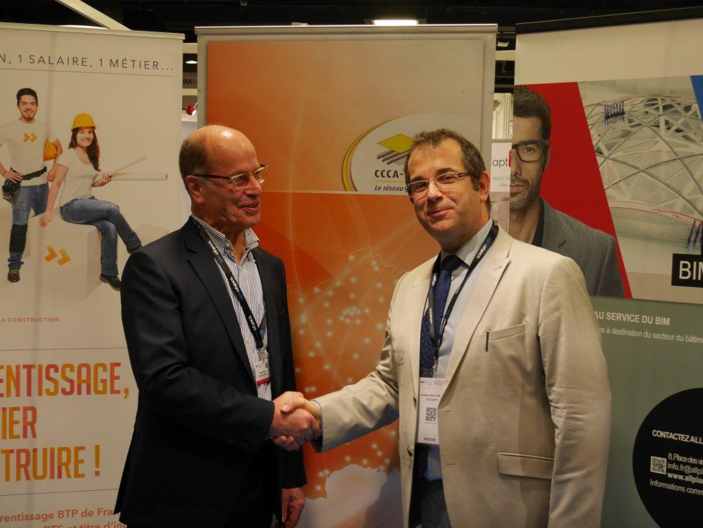 Signature convention de partenariat entre ALLPLAN et CCCA BTP