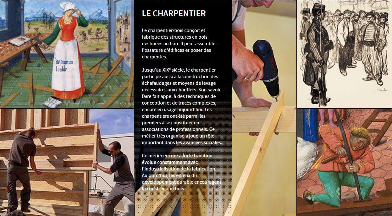 Illustration fiche histoire métier Constructeur bois