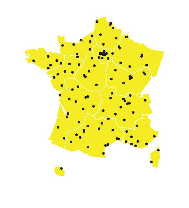 MAP des CFA BTP