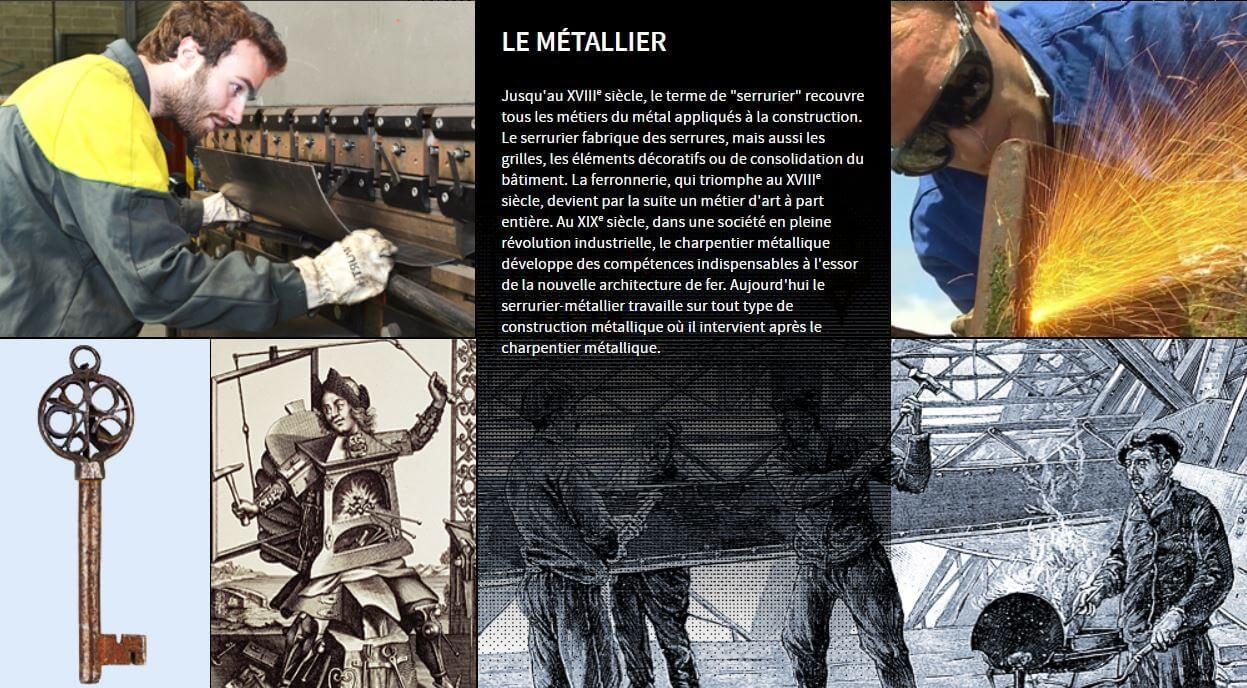 Illustration fiche histoire métier serrurier métallier