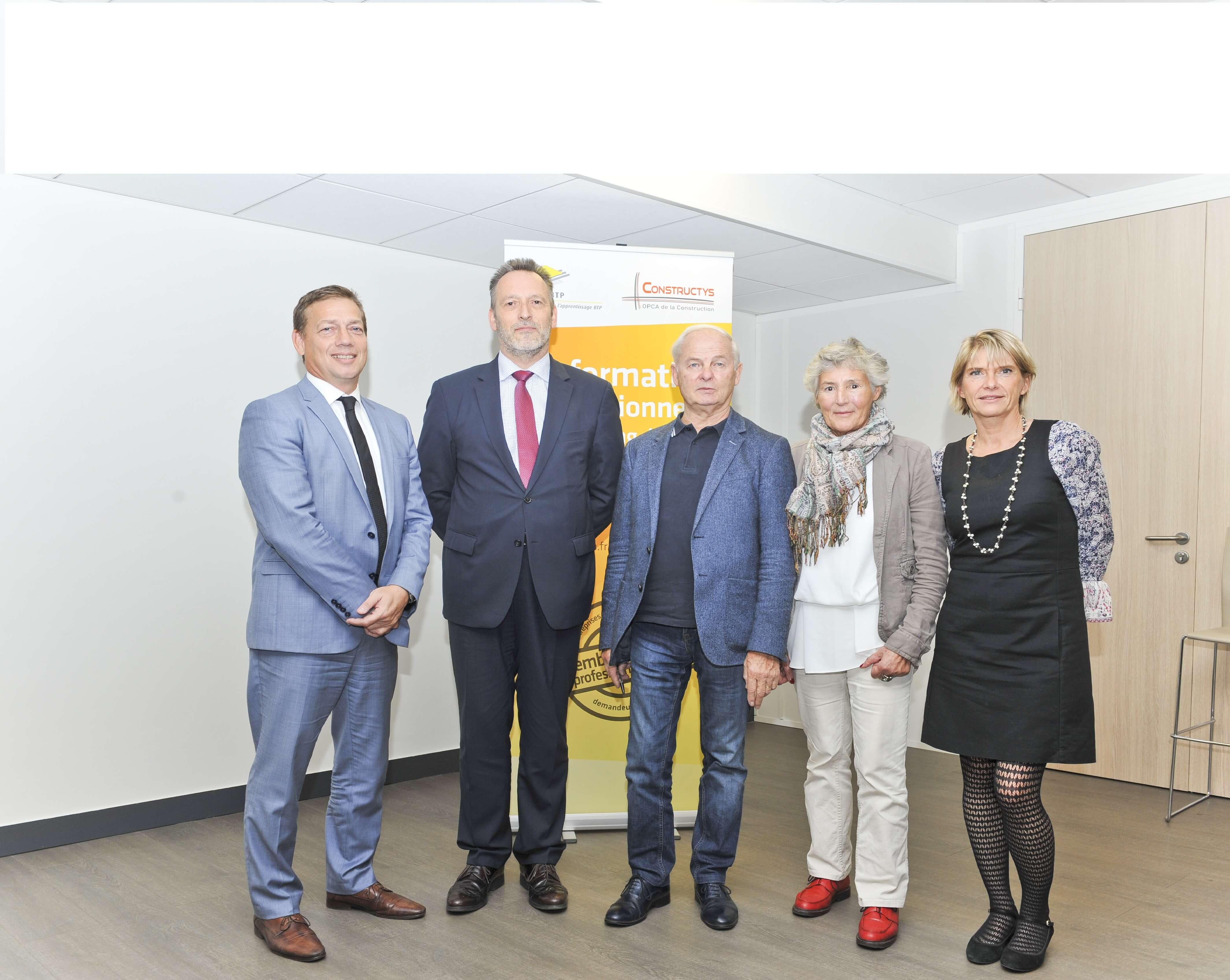 Photo synergie Constructys et CCCA BTP