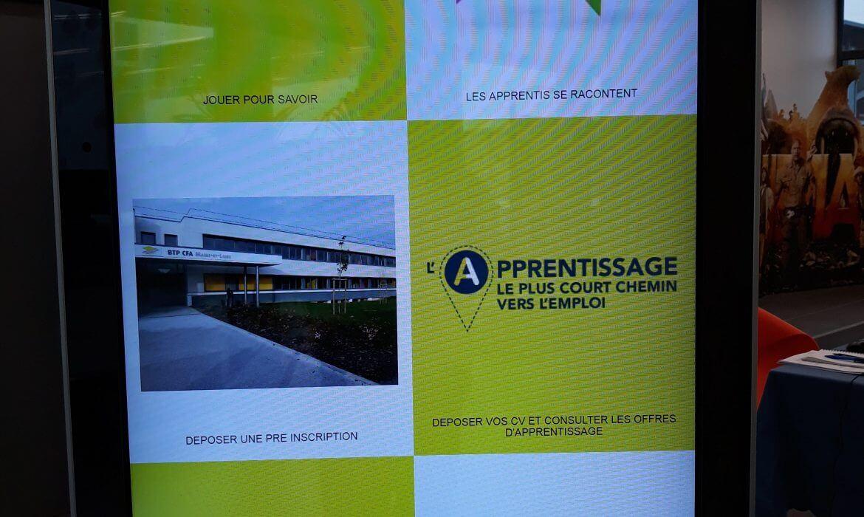 BTP CFA Maine-et-Loire propose aux collégiens de découvrir l'apprentissage via une borne innovante