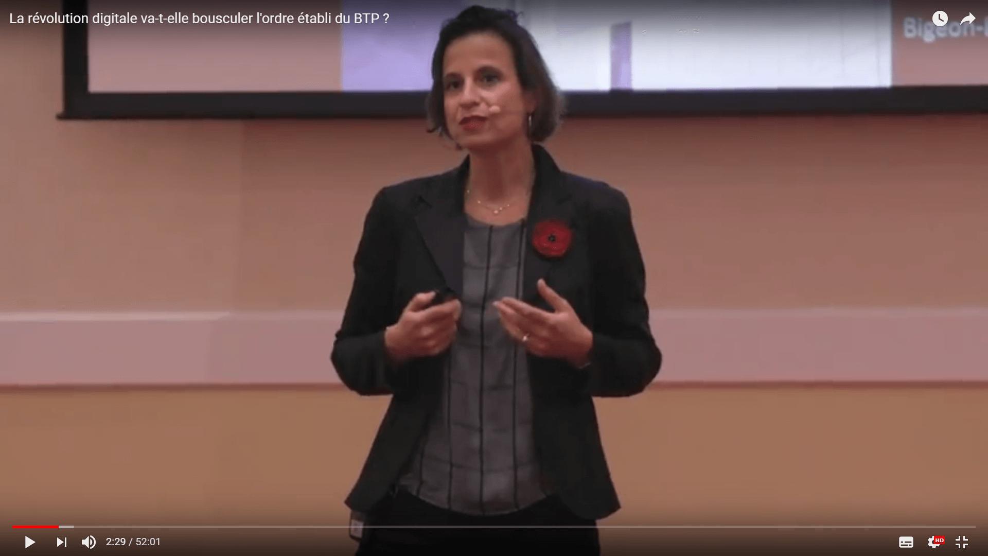 Vidéo de Stéphanie Bigeon concernant la transformation digitale