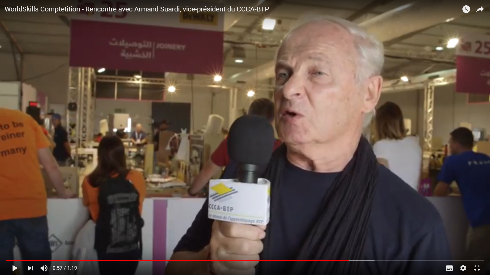 Interview d'Armand Saurdi vice président du CCCA BTP au WorldSkills 2017