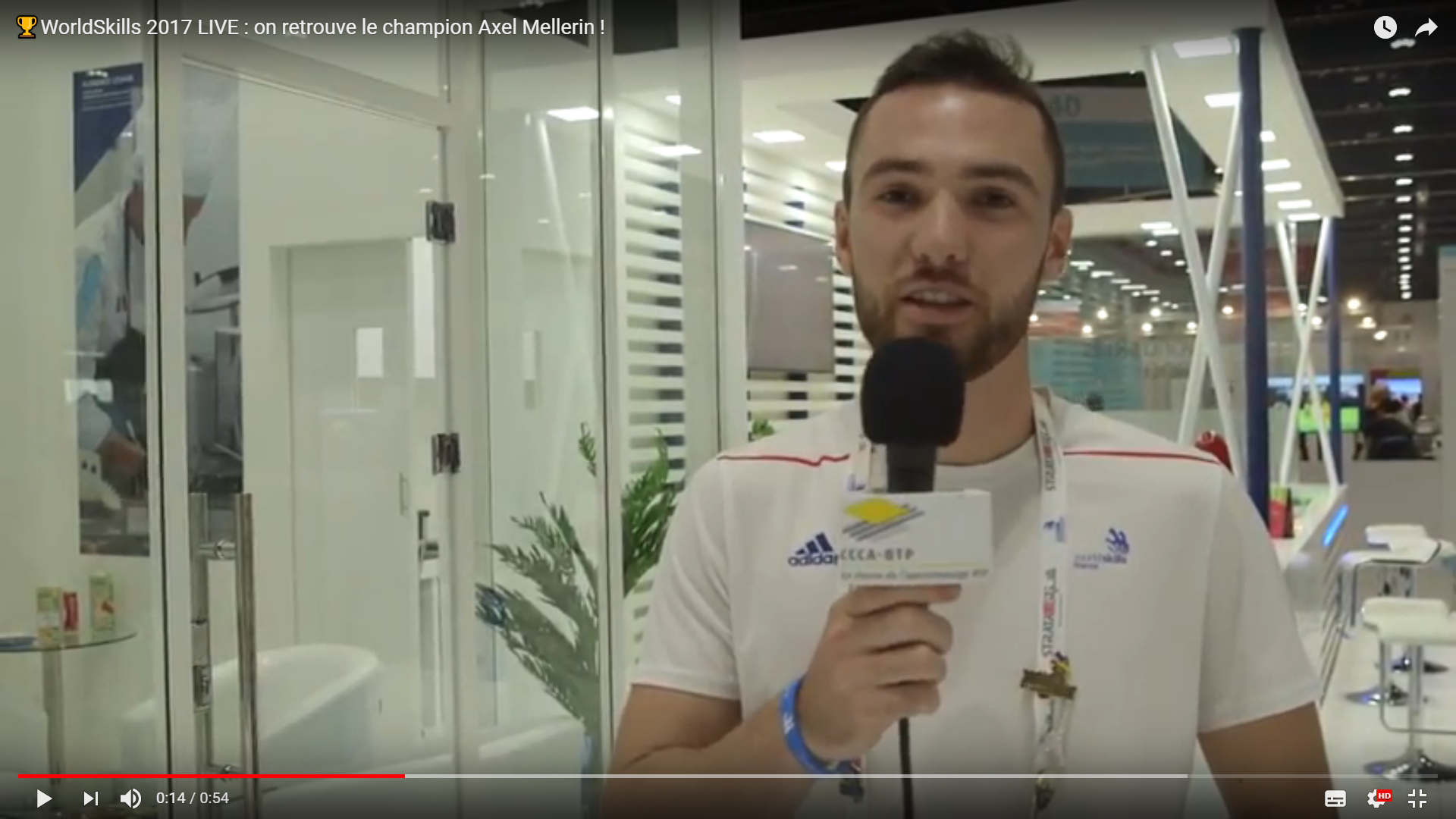 Interview d'Axel Mellerin au WorldSkills 2017