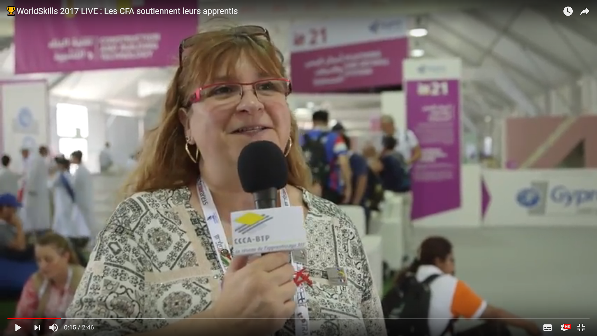Interview du CFA BTP Centre Val-de-Loire aux WorldSkills 2017