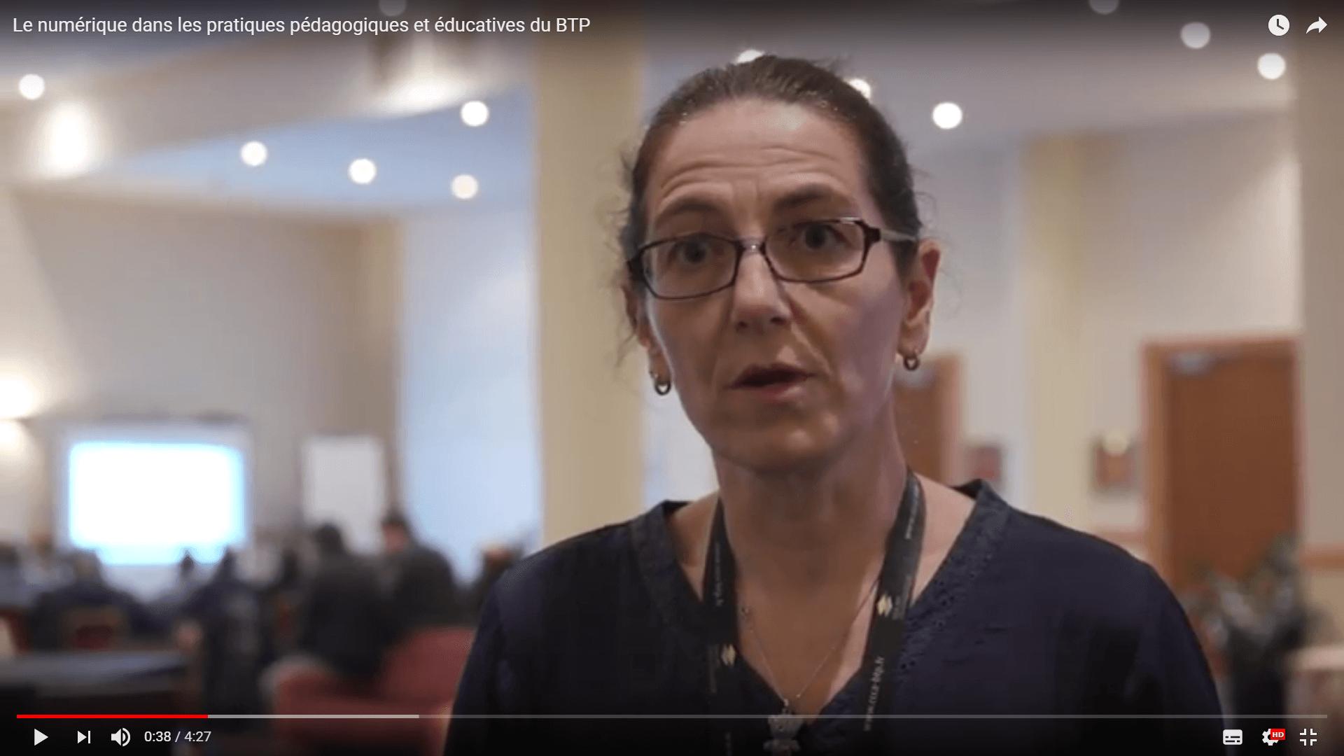Vidéo sur le numérique dans les pratiques pédagogiques et éducatives du BTP