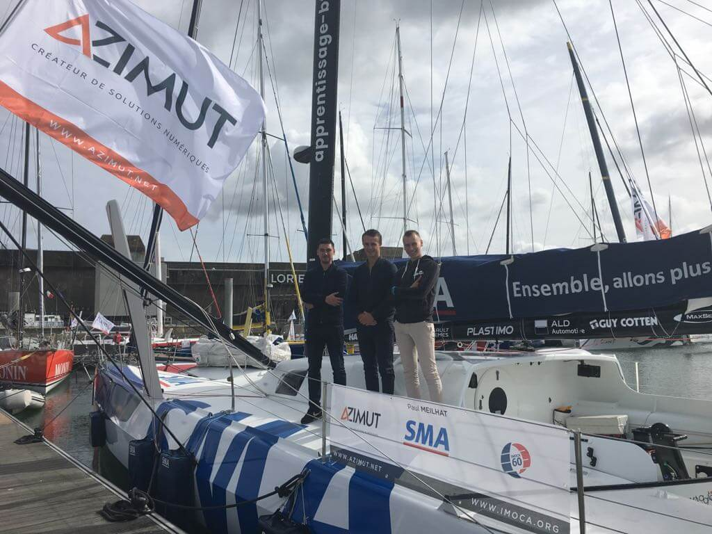 Le skipper Paul Meilhat part à la rencontre des apprentis du bâtiment et des travaux publics de la région bretonne