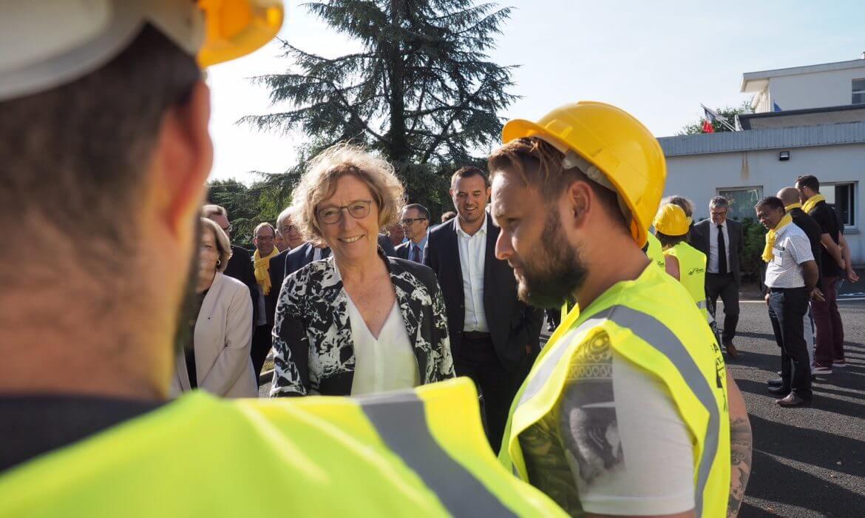 Rentrée de l'apprentissage 2018 : Muriel Pénicaud part à la rencontre des apprentis de BTP CFA Vienne