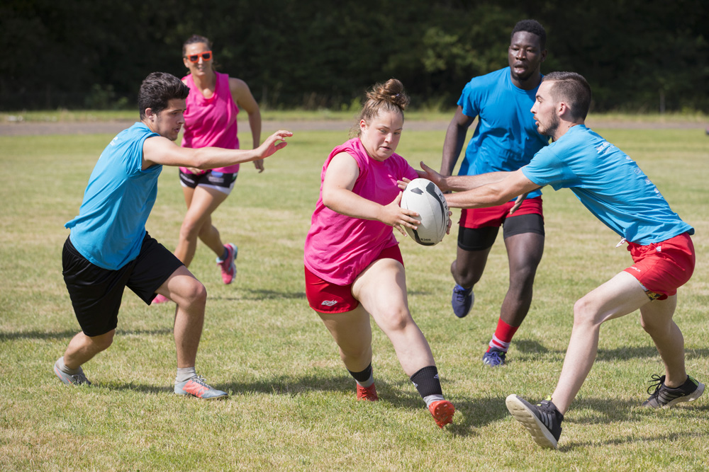 Rencontres de Rugby à 5 au Creps de Poitiers le 27 juin 2019.