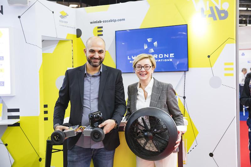 Jad Rouhana, CEO de Lynxdrone, et Isabelle Salze, directrice des Relations extérieures du Groupe Cassous