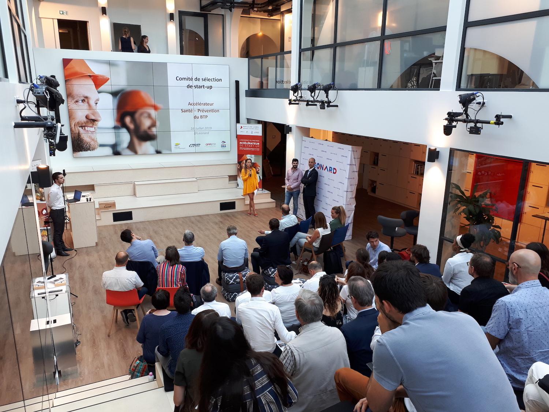 Pitchs start-up accélérateur Santé-Prévention dans le BTP