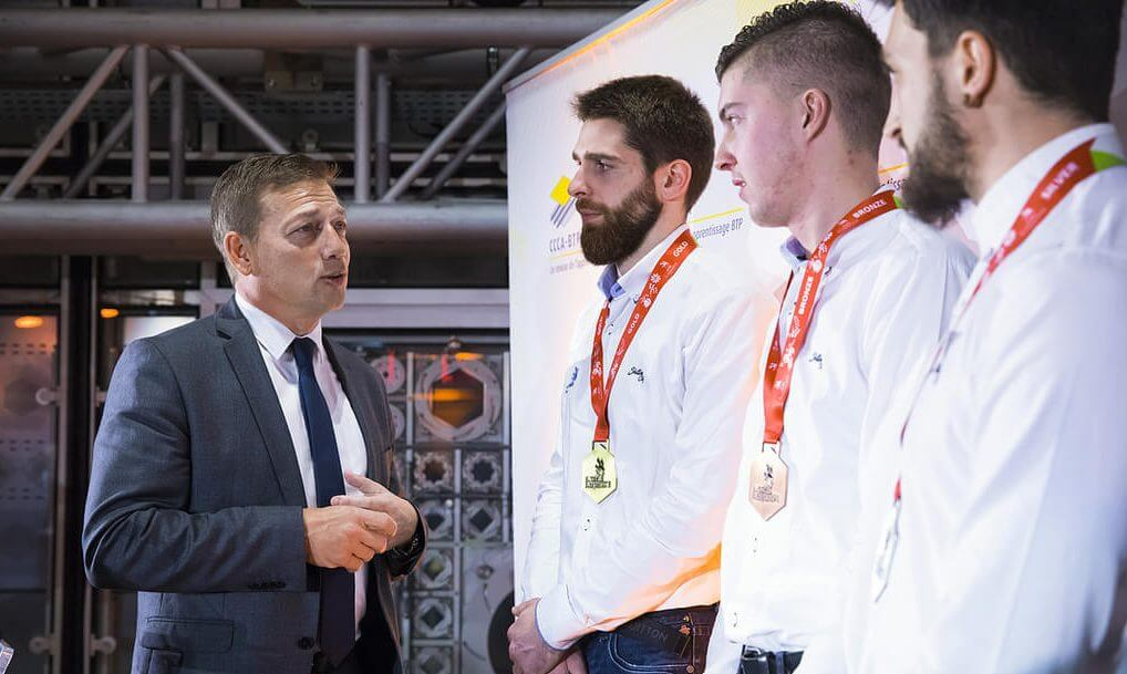 Photo champions WorldSkills BTP