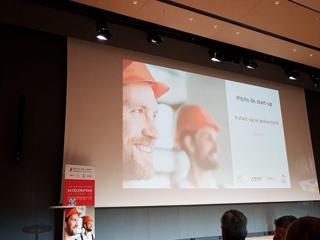 pitch start up Santé-Prévention dans le BTP