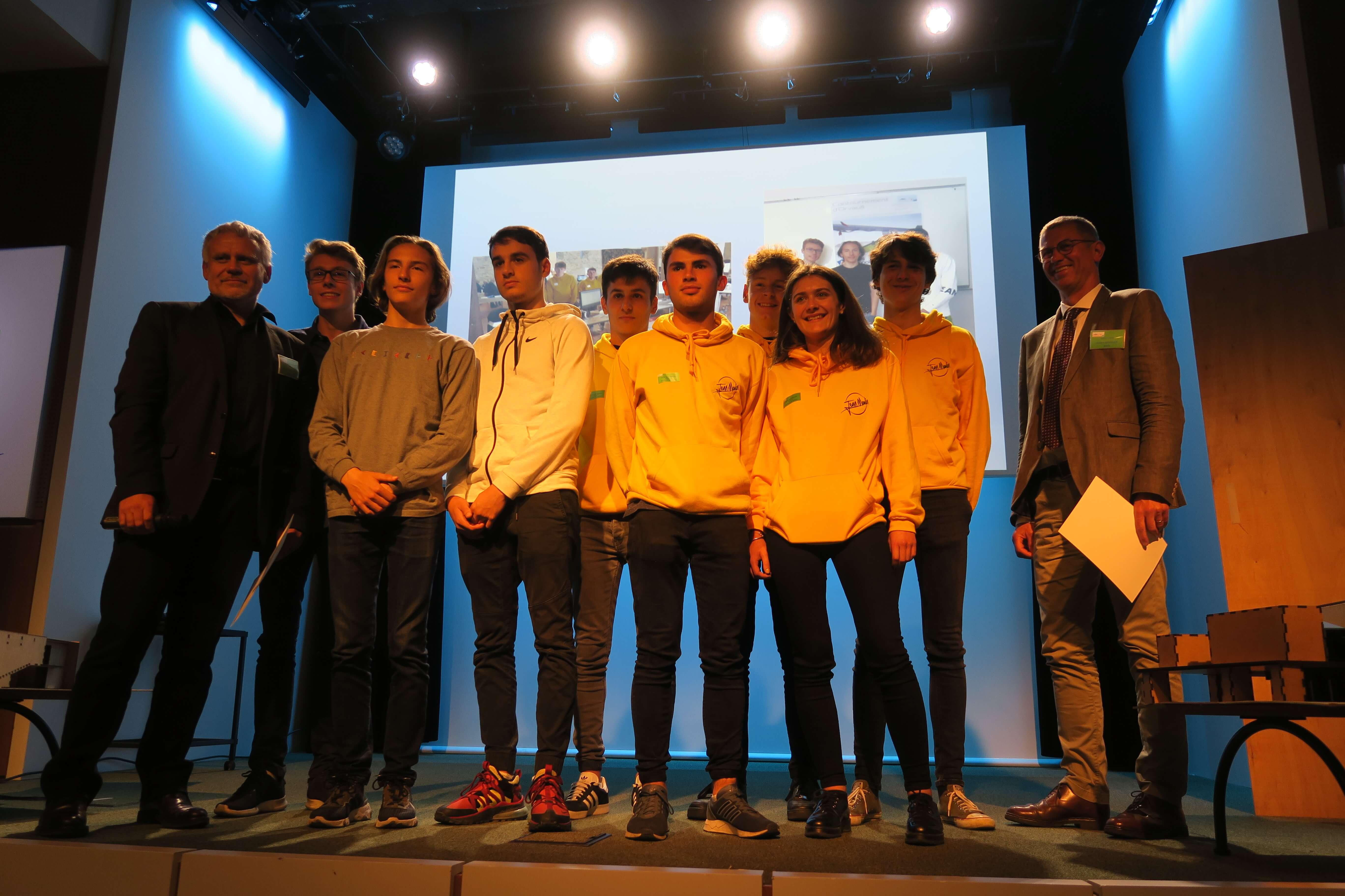 Les Genies de la Construction remise de prix catégorie lycée