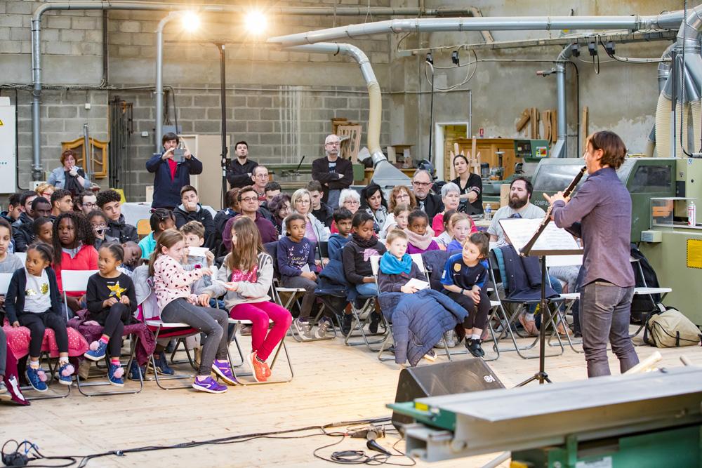 clarinettiste au concert de poche de Noisy-le-Grand