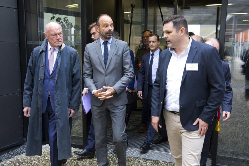 Edouard Philippe liste le BTP CFA d'Angoulême