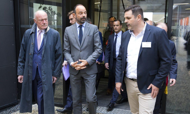Edouard Philippe visite CFA BTP