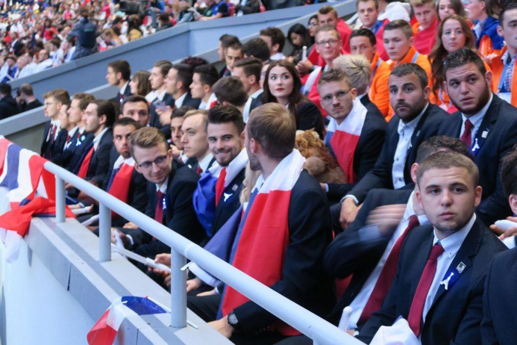 Photo equipe de France aux WorldSkills Kazan 2019